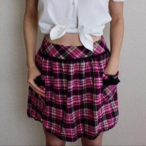 Dresses & Skirts - 🖤 PAPER DOLL 🎀 pink plaid skirt 🖤